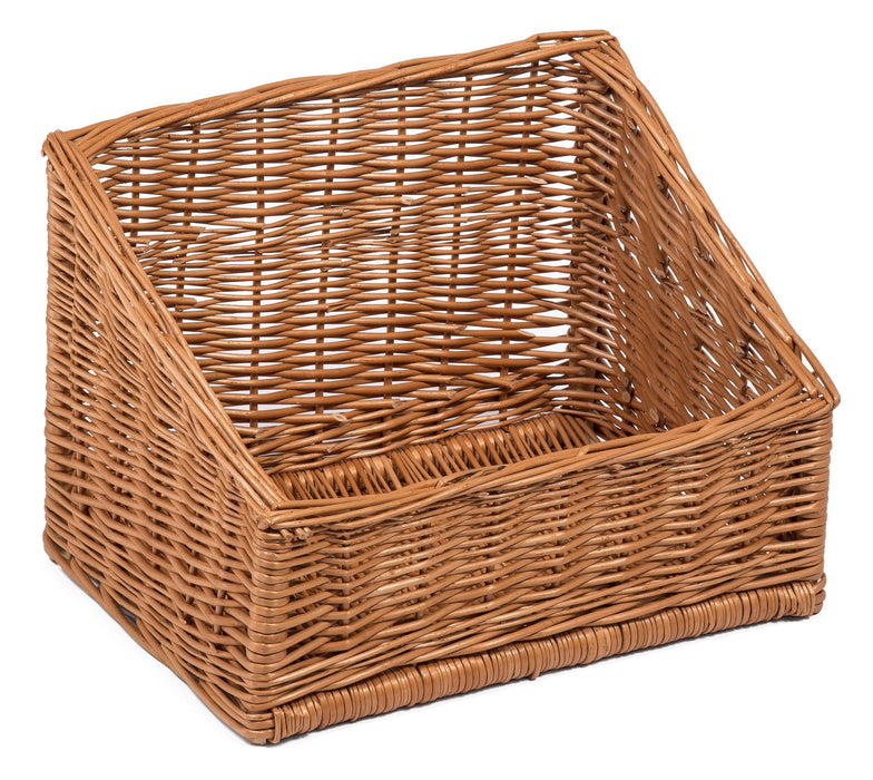 Display Sloping Basket High and Wide 40cm x 30cm Display Baskets Prestige Wicker