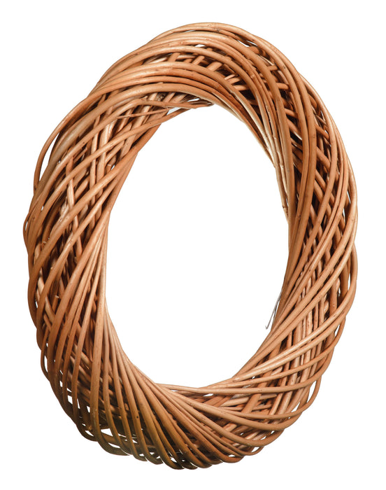 Light Natural Willow Chunky Wreath Home & Garden Prestige Wicker