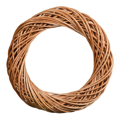 Light Natural Willow Chunky Wreath Home & Garden Prestige Wicker Medium