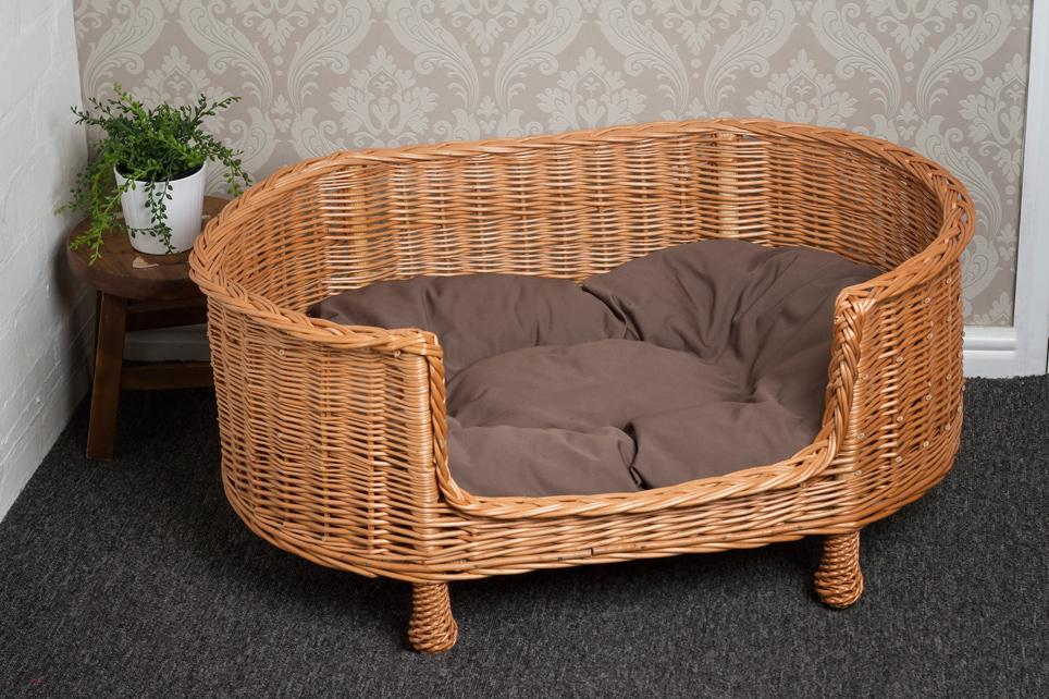 Luxury Oval Wicker Dog Settee Pets Prestige Wicker