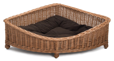 Luxury Wicker Dog Corner Basket Pets Prestige Wicker