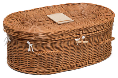 Luxury Wicker Pet Coffin Large Pets Prestige Wicker