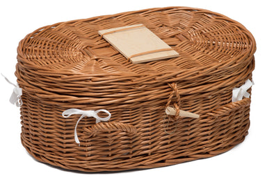 Luxury Wicker Pet Coffin Medium Pets Prestige Wicker