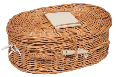Luxury Wicker Pet Coffin Small Pets Prestige Wicker