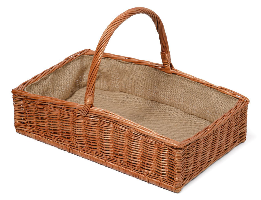 Natural steamed willow, wicker Rectangular Garden Trug Basket - Extra Large-light Home & Garden Prestige Wicker