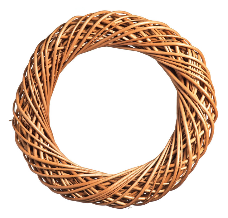 Natural Willow Chunky Wreath Home & Garden Prestige Wicker Small