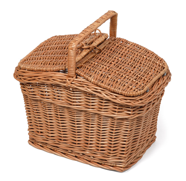 Rectangular Wicker Picnic Basket-Sunshine HAMPERS Prestige Wicker