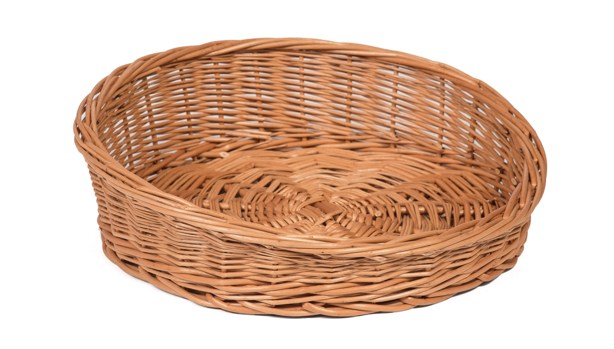 Round Sloping Wicker Display Basket Display Baskets Prestige Wicker