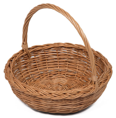 Round Wicker basket with handle Display & Catering Prestige Wicker