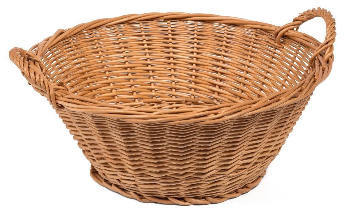 Round Wicker Display Basket Stand Display & Catering Prestige Wicker