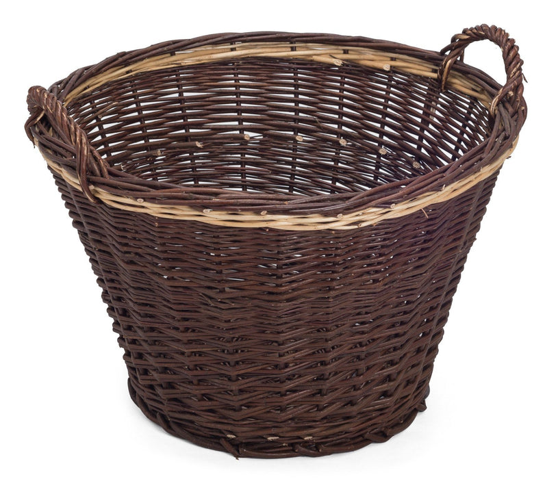 Strong Wicker Round Log Holder Storage Basket Home & Garden Prestige Wicker
