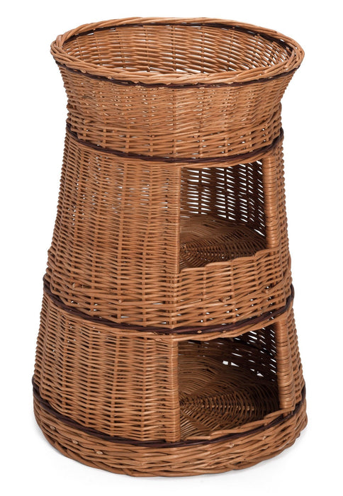 Three Tier Wicker Cat House Pets Prestige Wicker