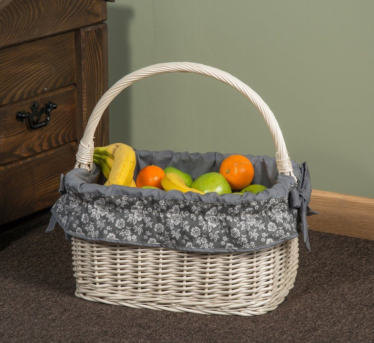 White Wicker Basket French Home & Garden Prestige Wicker