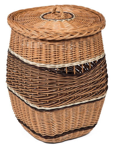 Wicker Laundry Basket Lidded with Linner Home & Garden Prestige Wicker