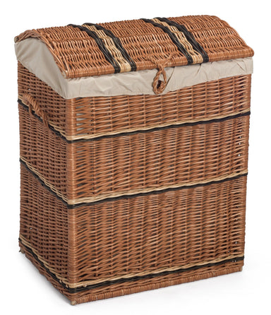Wicker Laundry Basket Lined Medium Home & Garden Prestige Wicker