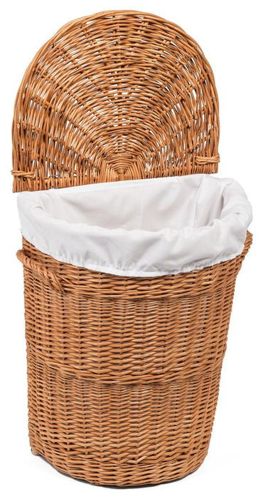 Wicker Lidded Laundry Basket Small Home & Garden Prestige Wicker