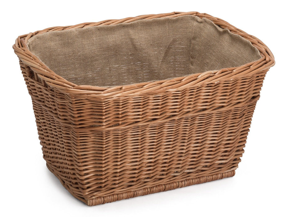 Wicker Log Basket Lined Home & Garden Prestige Wicker