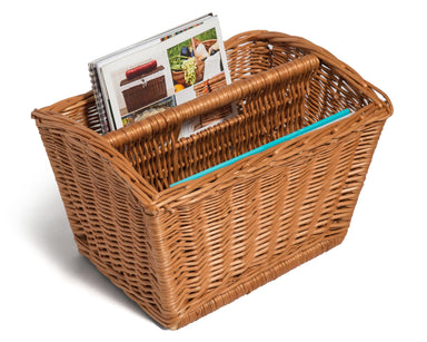 Wicker Magazine Basket Rack Cottage Home & Garden Prestige Wicker
