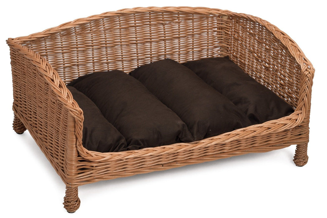 Wicker Pet Bed Settee Pets Prestige Wicker Small