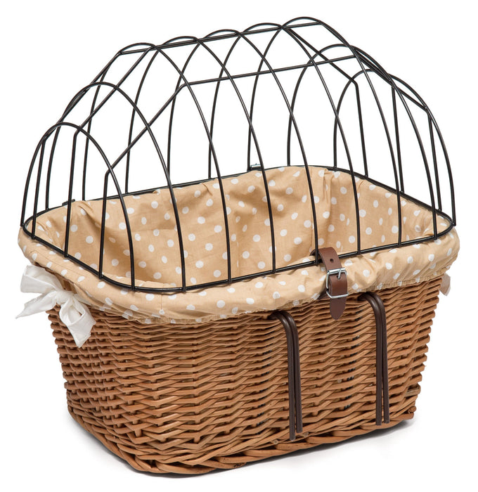 Wicker Pet Carrier for Bicycle with Lining Pets Prestige Wicker