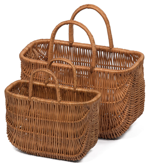 Wicker Shopping Basket / Two Handles Small Home & Garden Prestige Wicker