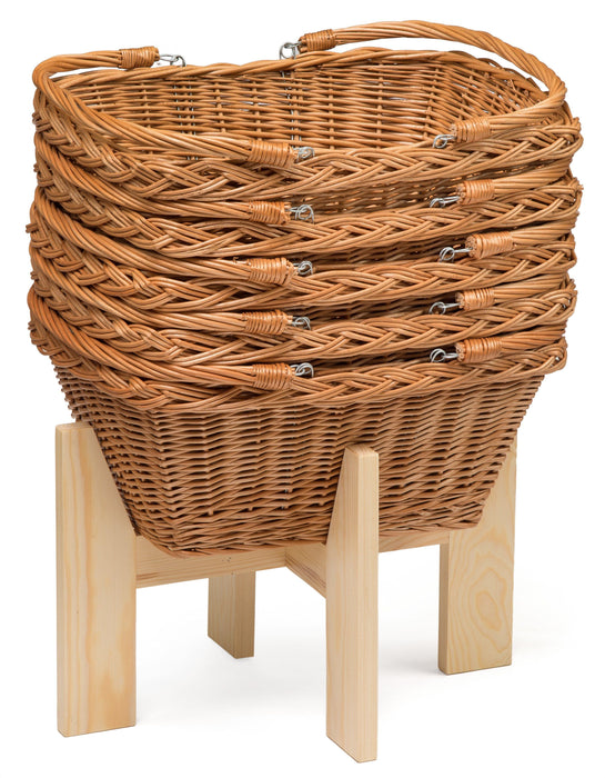 Wicker Shopping Basket With Handles Display & Catering Prestige Wicker
