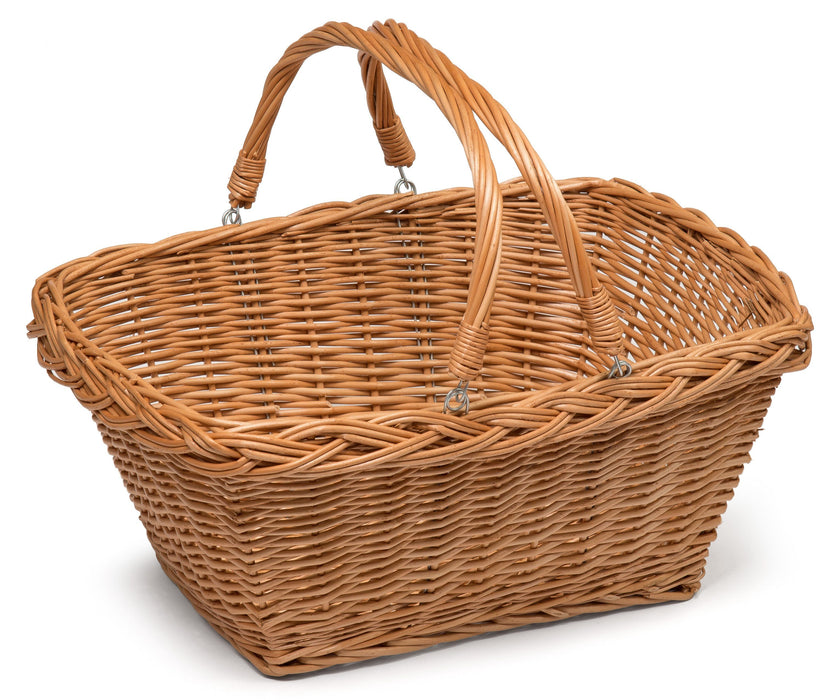 Wicker Shopping Basket With Handles Display & Catering Prestige Wicker Medium