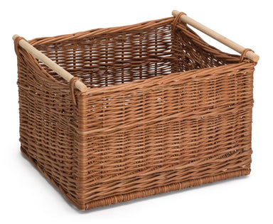 Wicker Storage Baskets Wooden Handles Home & Garden Prestige Wicker