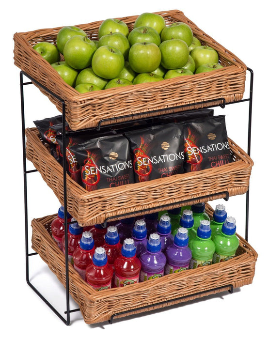 Wicker Three Tier Display Stand Countertop Display & Catering Prestige Wicker