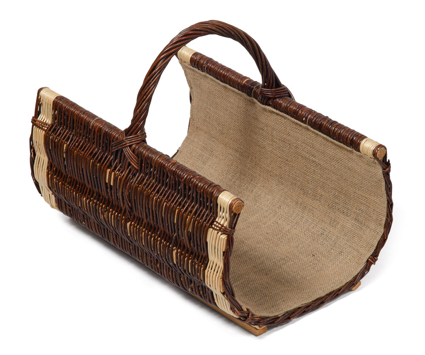 Wicker Willow Log Carrier Basket Home & Garden Prestige Wicker
