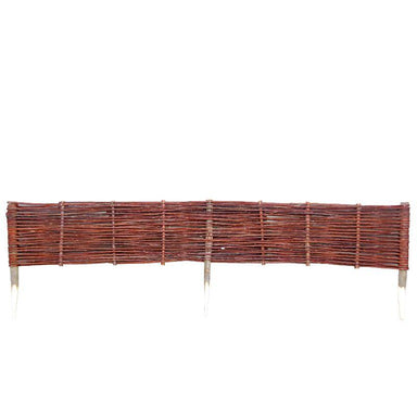 Willow Wicker Lawn Edging Fence Prestige Wicker Medium