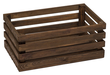 Wooden Crate Dark Display Baskets Prestige Wicker
