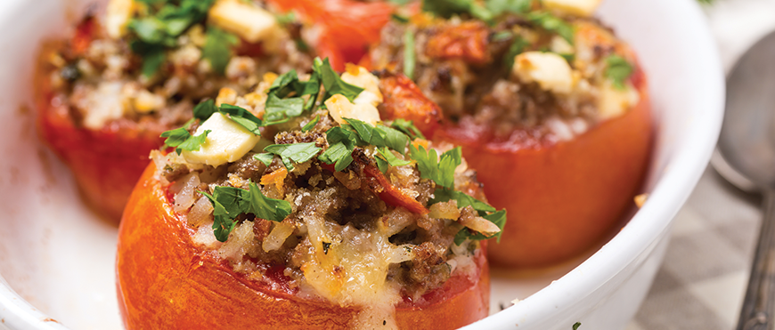 Add some zing to your diet with Rice and Feta Stuffed Peppers!