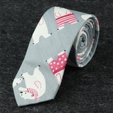 6cm Férfi Alkalmi Tie Narrow Edition Cartoon Bear Tie
