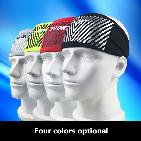 Sporty Yoga Dance Cycling Biker Running Wide Headband Stretch Ribbon Hairband Elastic Headscarf