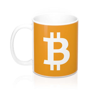 Mug - Bitcoin orange - Crypto merchandise gift idea