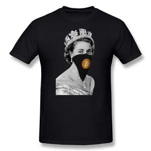 T-shirt - Queen bitcoin - Crypto merchandise gift idea