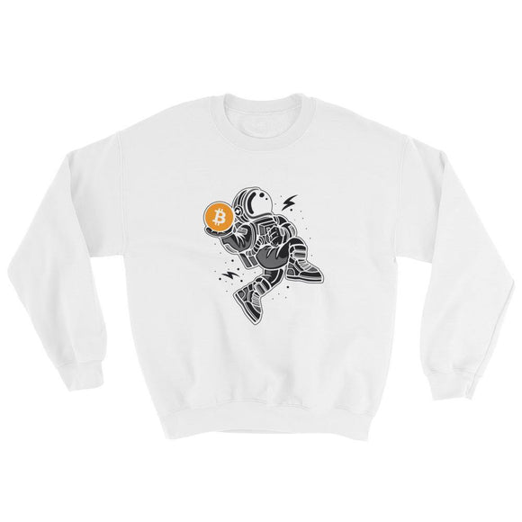 Sweatshirt - Bitcoin in Space - Blockchain Stuff Crypto merchandise bitcoin merch tees