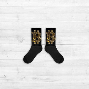 Socks - Bitcoin Large - Crypto merchandise gift idea