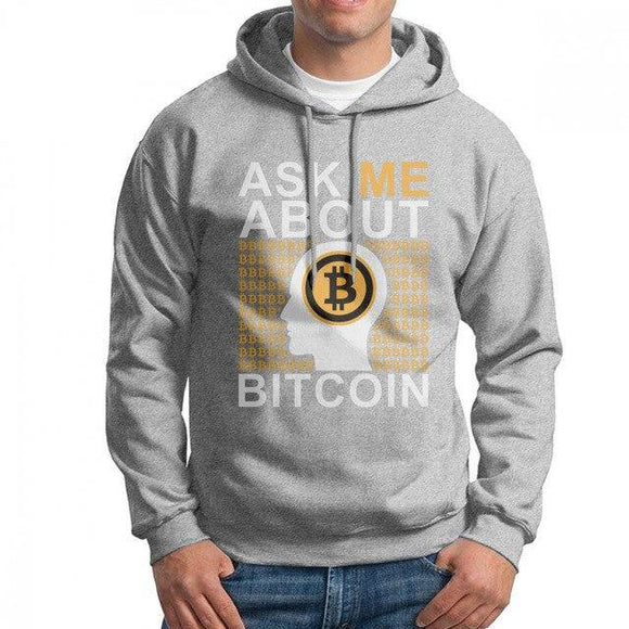 Sweatshirt - Ask me about Bitcoin - Blockchain Stuff Crypto merchandise bitcoin merch tees