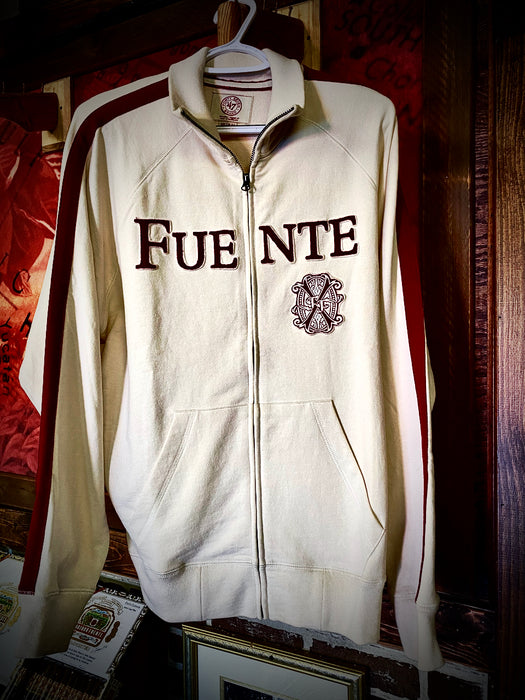 Fuente Track Jacket White & Red