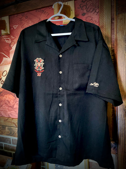 Black Fuente 33 Button Up Lord Puffer Cigar Shirt