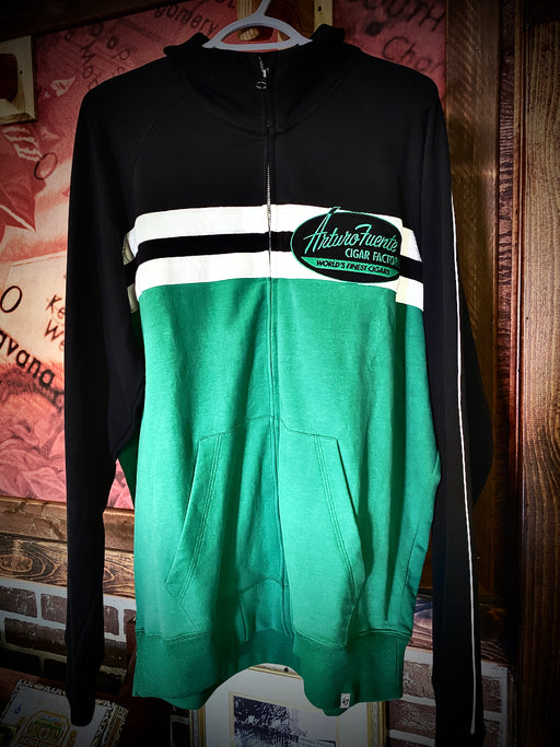 Fuente Track Jacket Black and Green