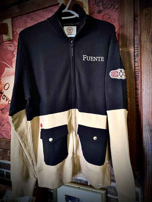 Fuente Track Jacket Black and Tan