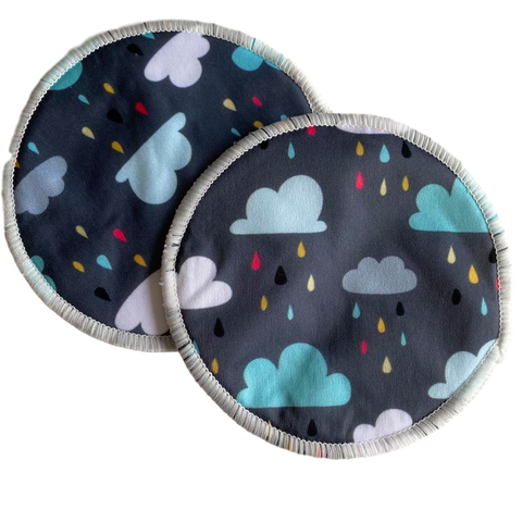 Washable Breast Pads- Clouds