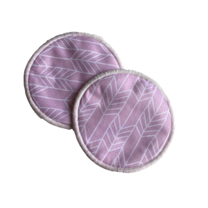 Washable Breast Pads- Pink Arrow