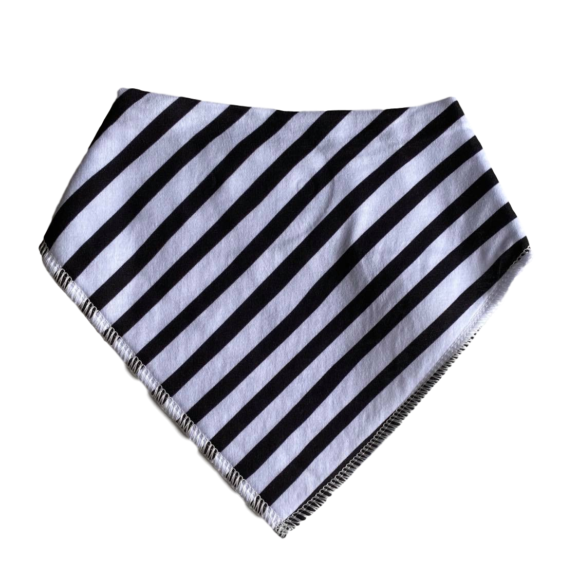 Bandana Bib- Black and white Stripe