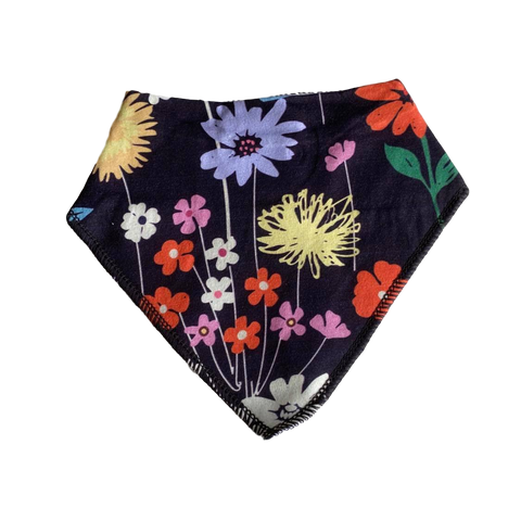 Bandana Bib- bright flowers