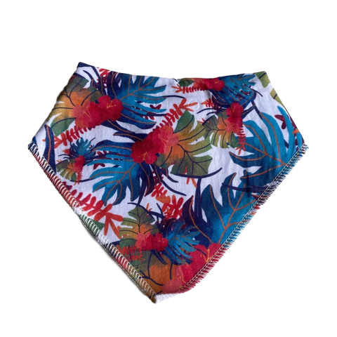Bandana Bib- tropical leaves
