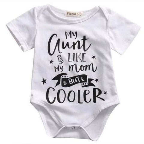 Personalised onesie 'My aunt is like my mom but cooler'